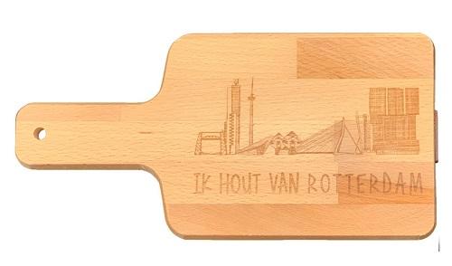 """Snijplank """"Ik hout van Rotterdam"""""""