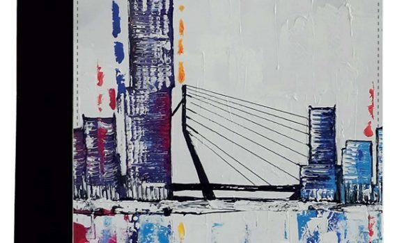 """A4 Schrijfmap """"Rotterdam Skyline Art"""""""