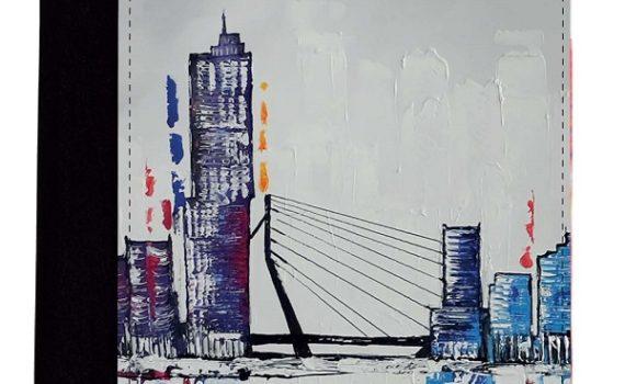 """A5 Schrijfmap """"Rotterdam Skyline Art"""""""