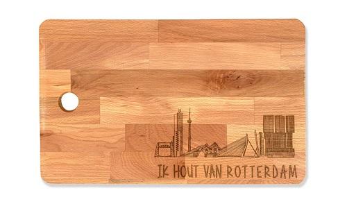"""Snijplank groot """"Ik hout van Rotterdam"""""""