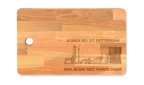 """Snijplank groot """"Komen wij uit Rotterdam?!"""""""