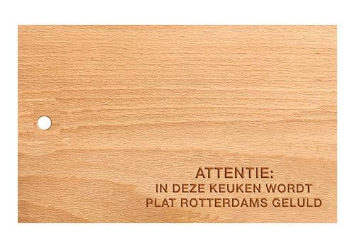 "Snijplank groot ""Plat Rotterdams"""