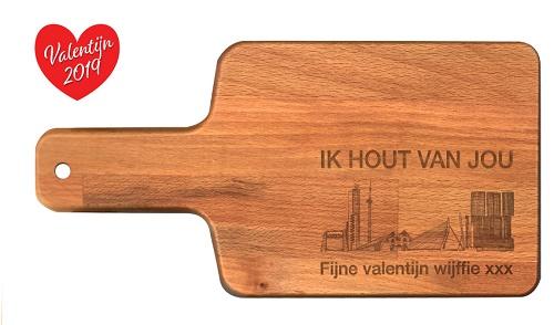 "Snijplank ""Valentijn 2019"""