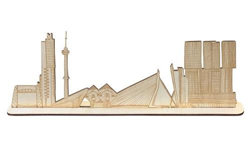 Skyline van Rotterdam 3D met standaard
